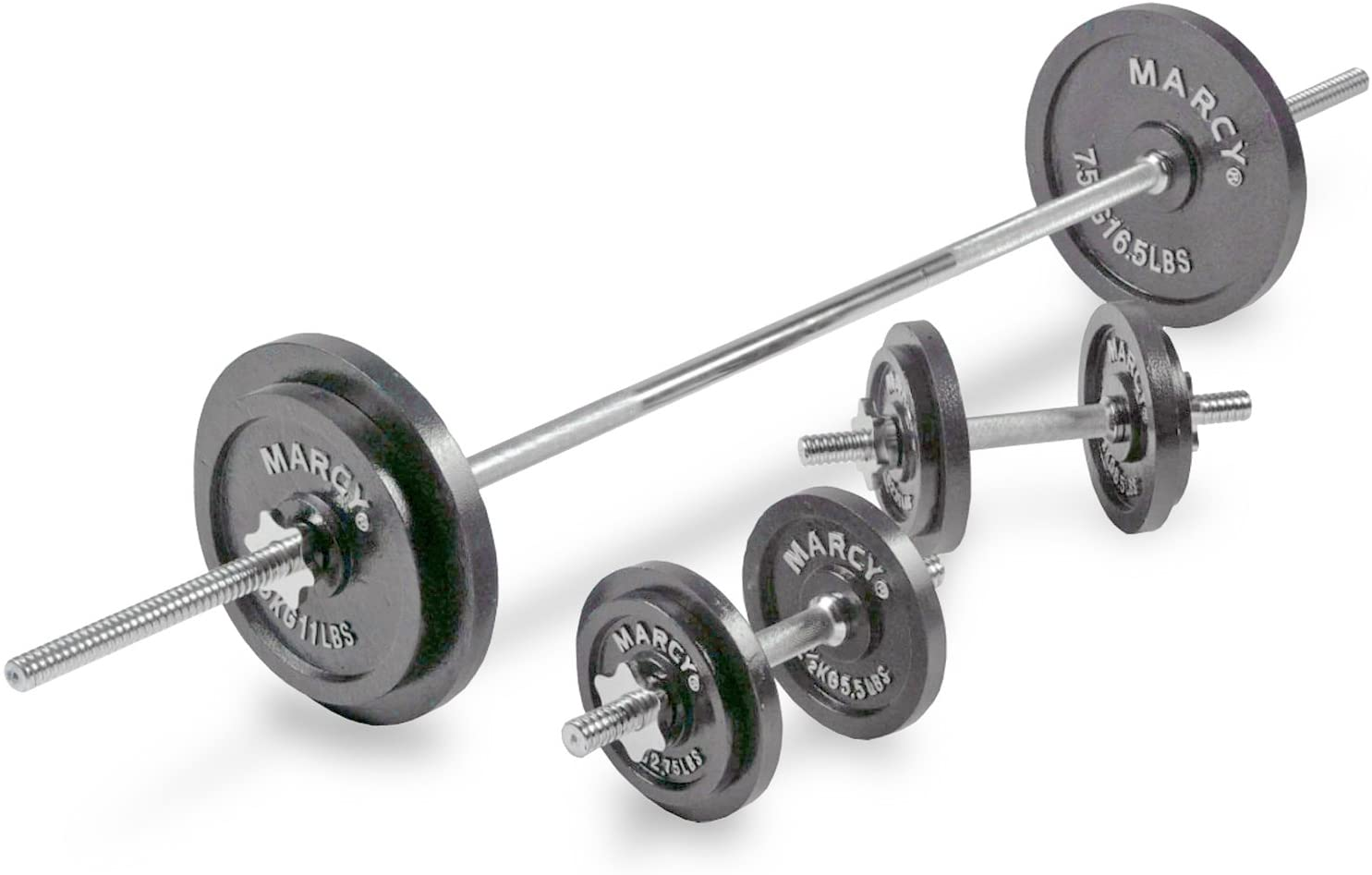 Marcy Barbell & Dumbbell Weight Set (50 kg)